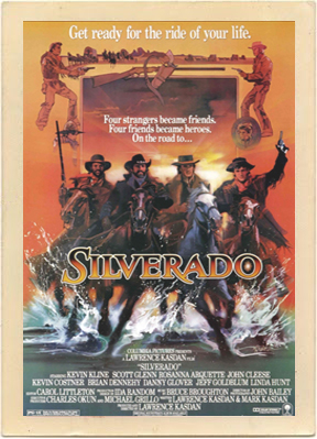 Original poster for the movie Silverado.